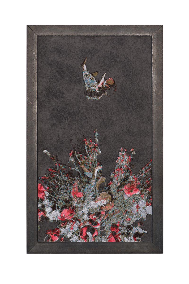 Fynn Ribbeck Kunst Art Stickerei Embroidery Der Traum des Gärtners 1