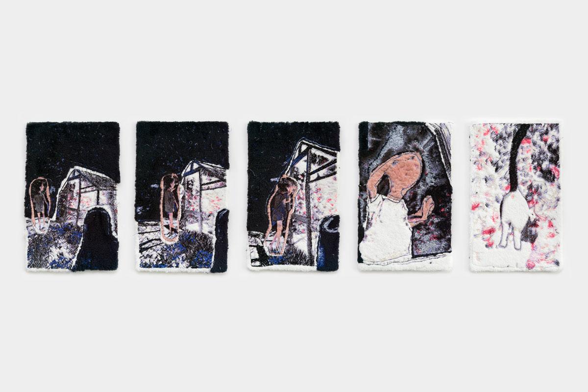 Fynn Ribbeck Kunst Stickerei Art Garten